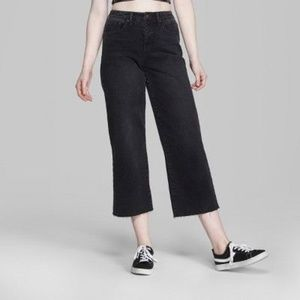 WILD FABLE High-Rise Wide Leg Cropped Jeans 14 NEW